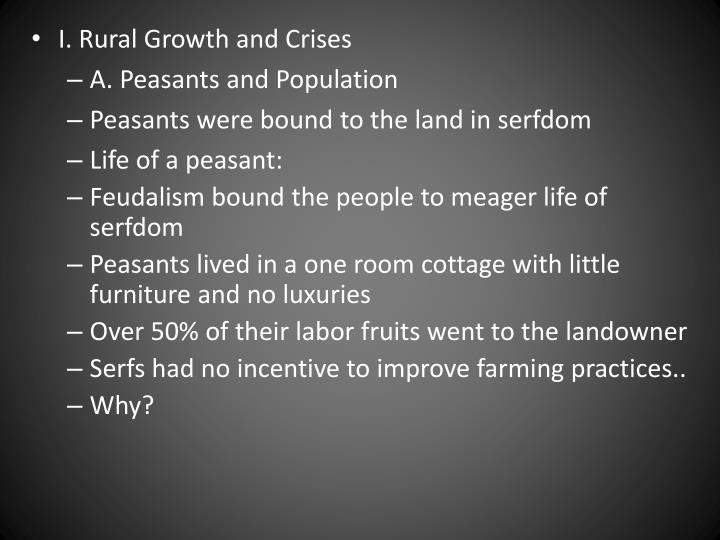 I. Rural Growth and Crises