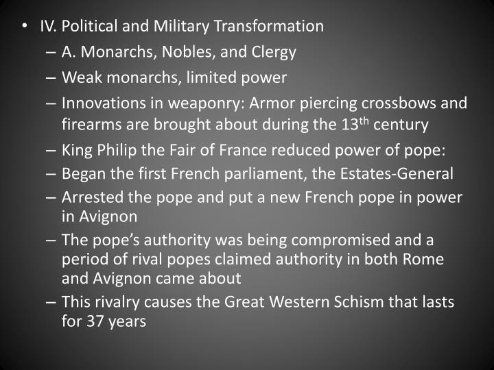 IV. Political