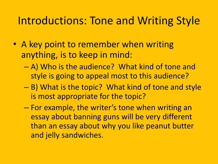 essay on writing styles