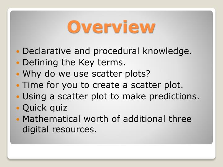 Declarative and procedural knowledge.