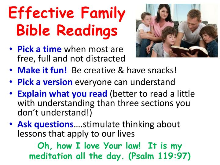 Effective Family Bible Readings