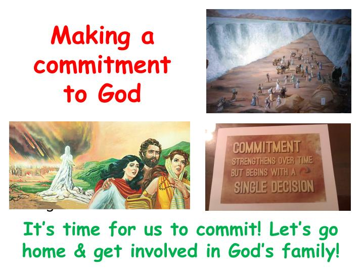 Making a commitment to God