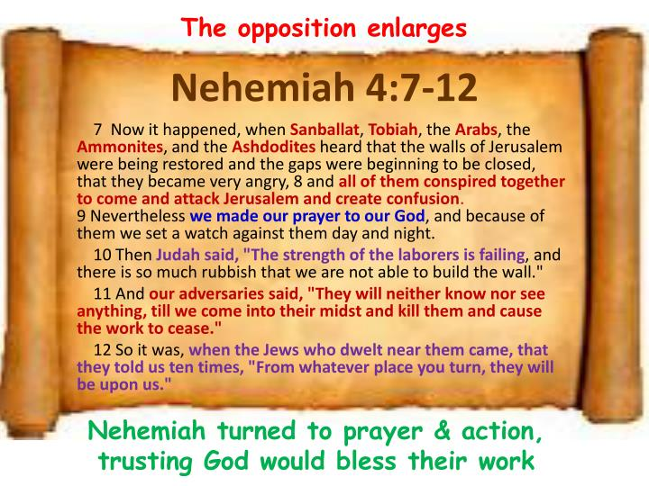 The opposition enlarges