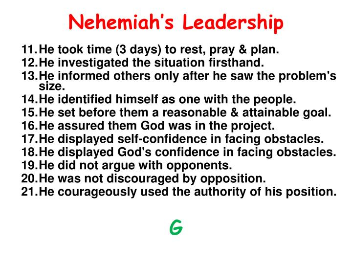 Nehemiah's Leadership