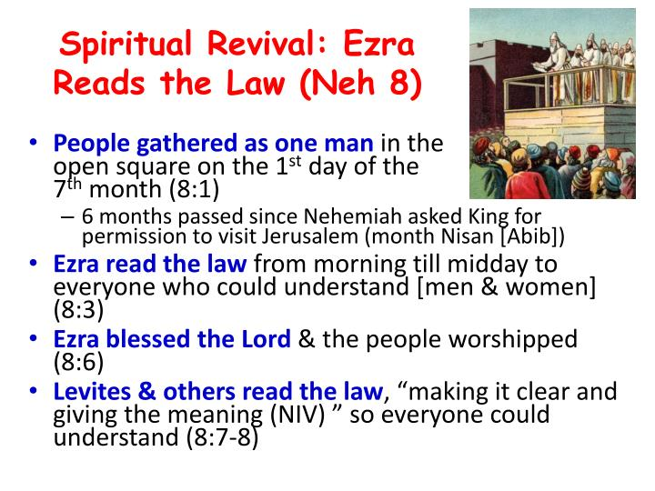Spiritual Revival: Ezra Reads the Law (