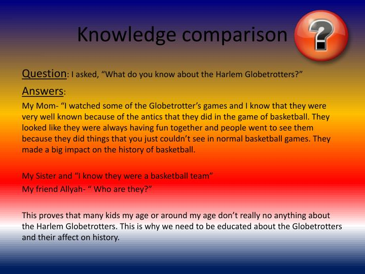 Knowledge comparison