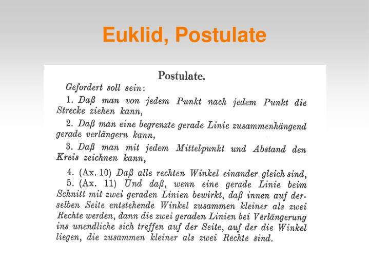 Euklid, Postulate