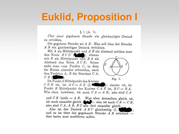 Euklid, Proposition I