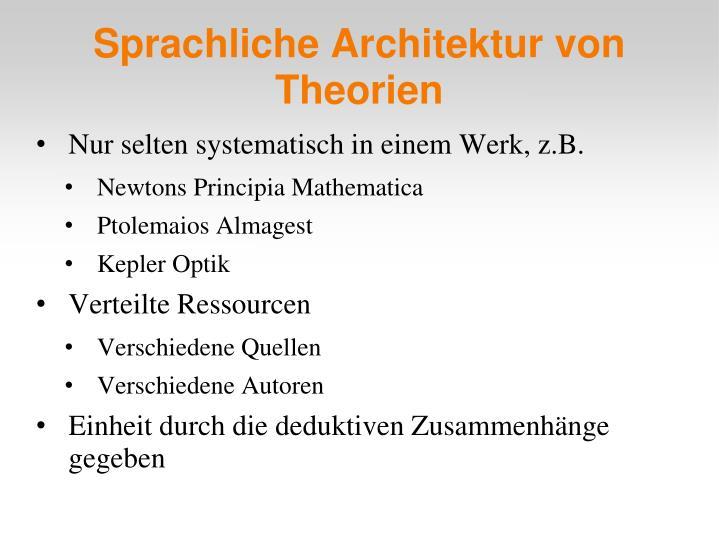 Sprachliche Architektur von Theorien