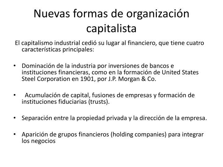 Nuevas formas de organización capitalista