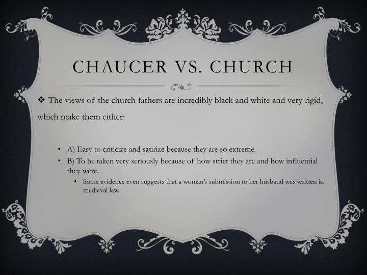 Chaucer vs. Church