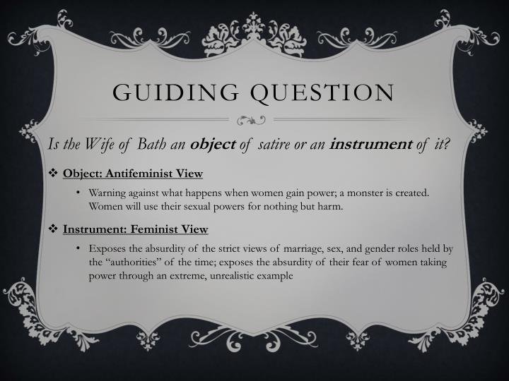 Guiding question