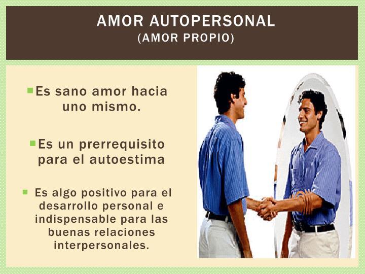 Amor autopersonal