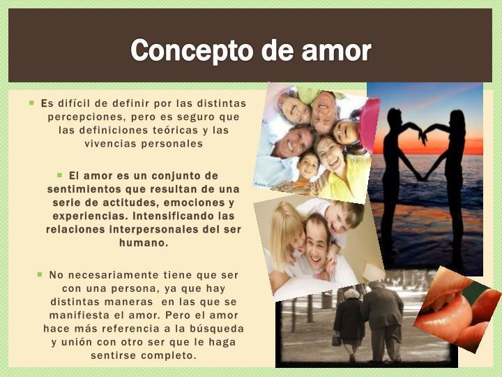 Concepto de amor