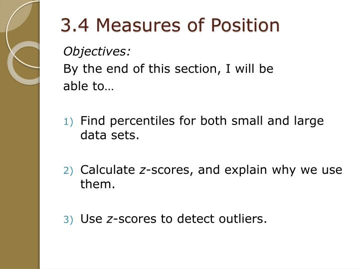 3.4 Measures of Position
