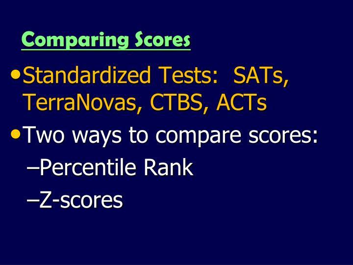 Comparing Scores