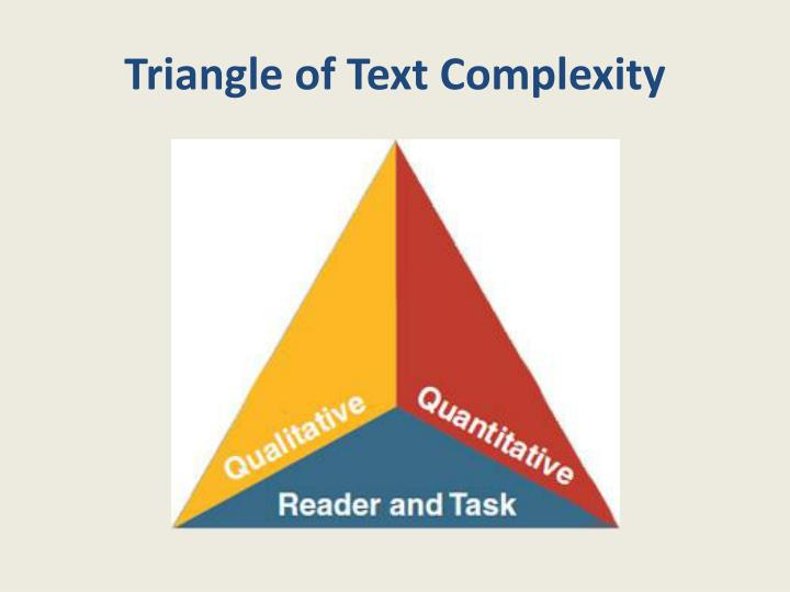 Triangle of Text Complexity