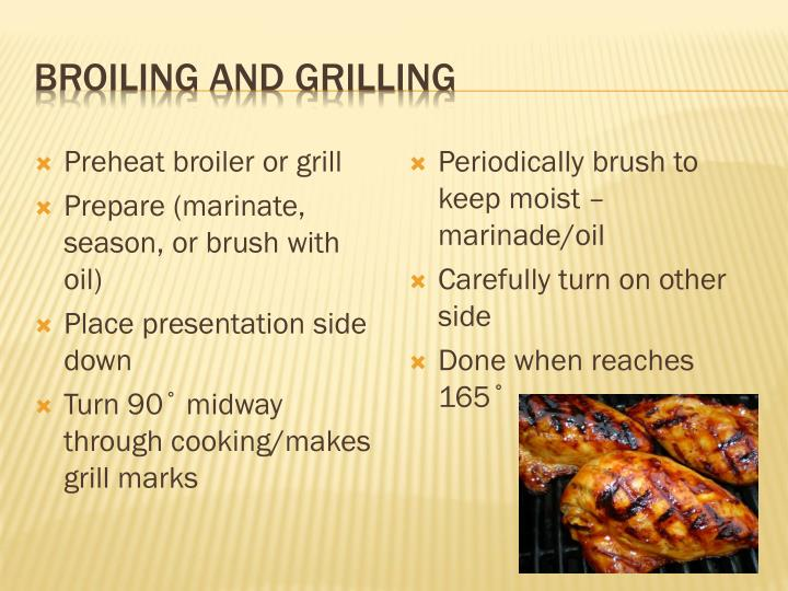 Broiling and Grilling