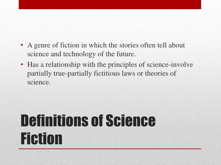 Definitions of science fiction