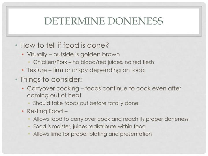 Determine Doneness