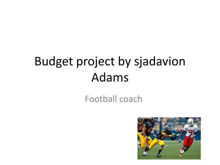 Budget project by sjadavion adams