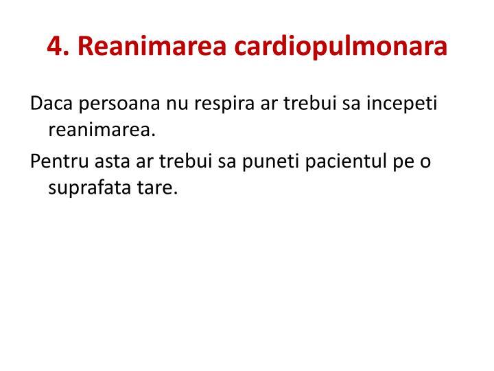 4. Reanimarea cardiopulmonara