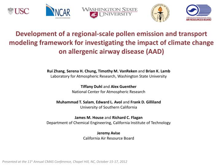 Development of a regional-scale pollen emission and transport modeling framework for investigating t...