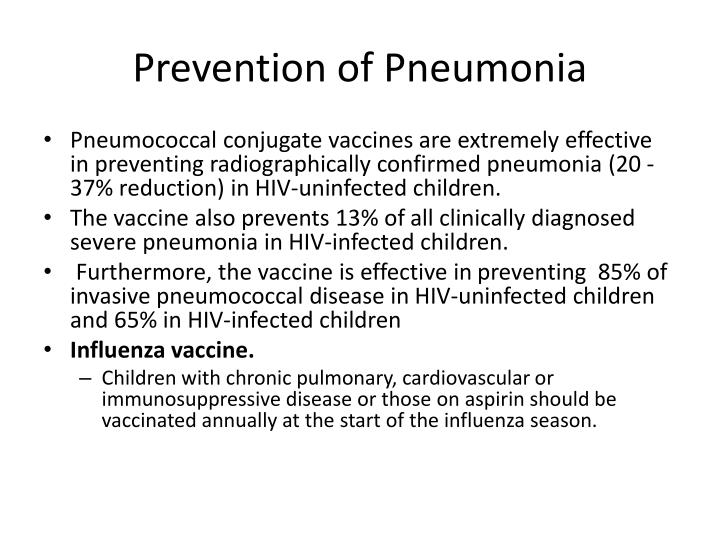 Prevention of Pneumonia
