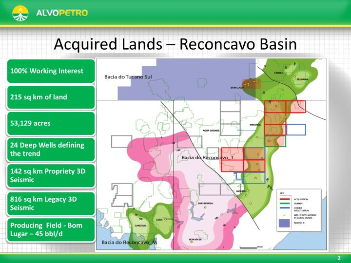 Acquired lands reconcavo basin
