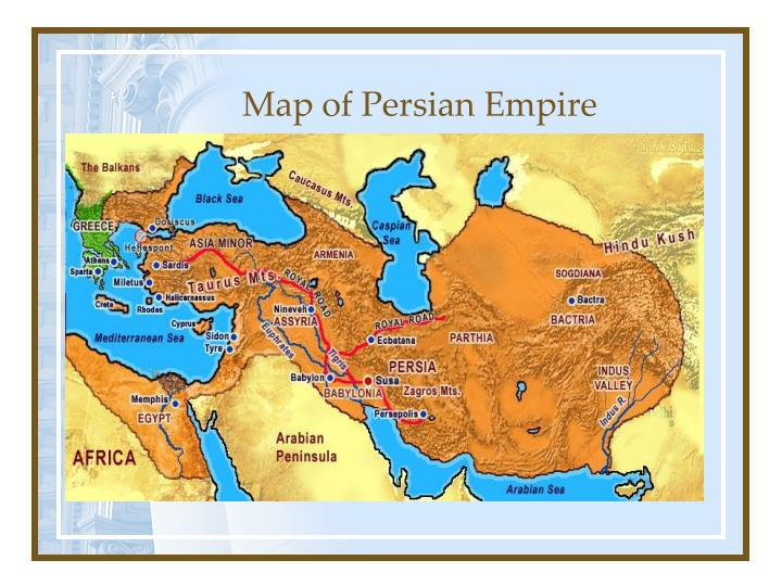 Map of Persian Empire
