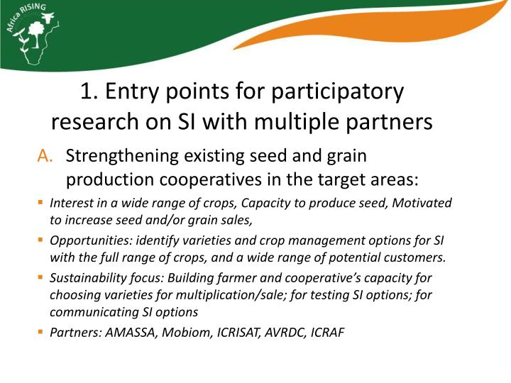 Strengthening existing seed and grain production cooperatives in the target areas:
