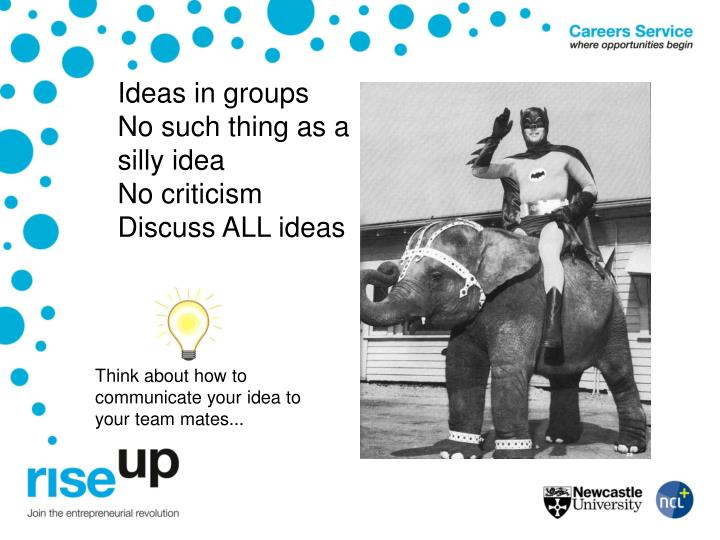 Ideas in groups