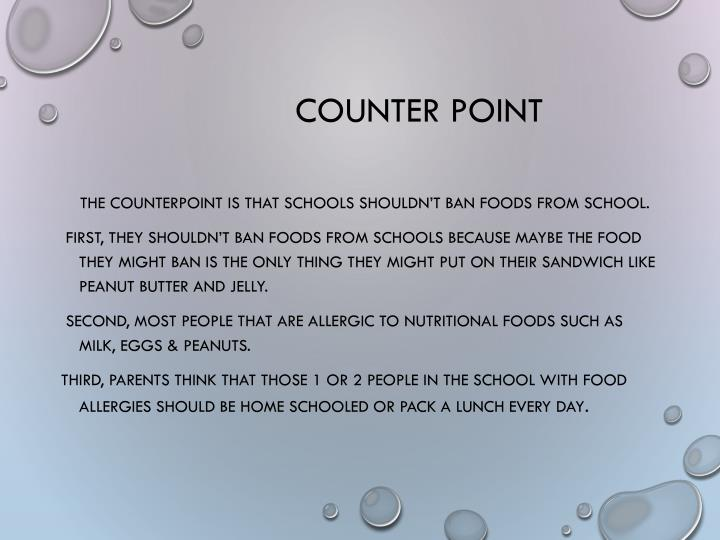 Counter point