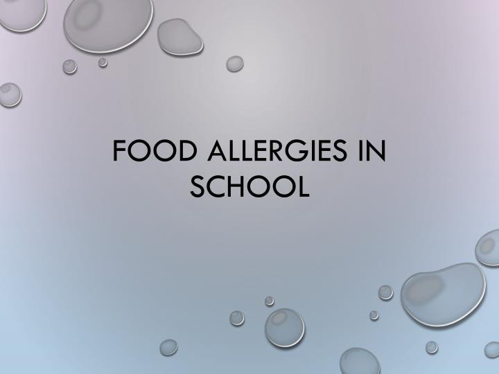 Food Allergies in School