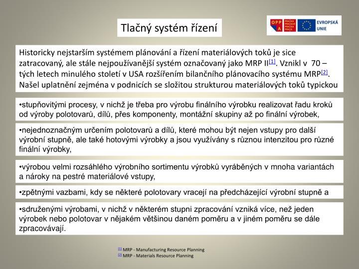 Tlačný systém řízení