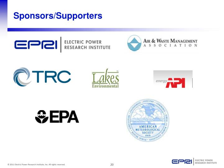 Sponsors/Supporters