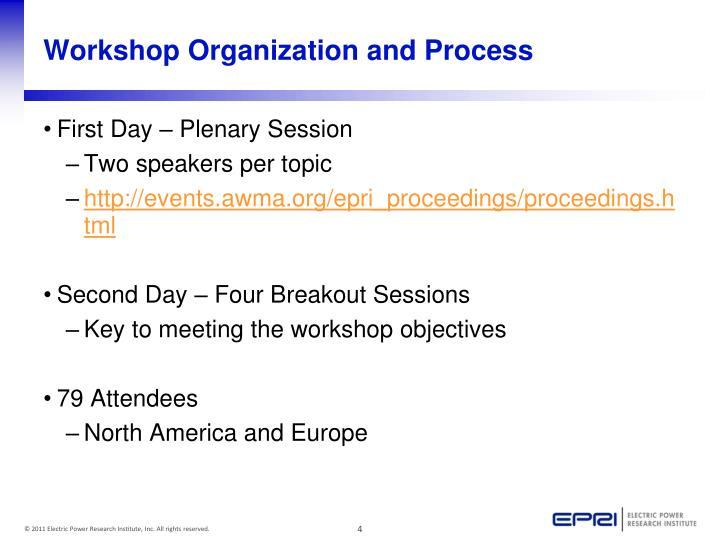 Workshop Organization and Process