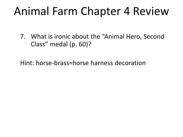 Animal Farm Chapter