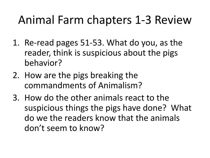 Animal farm chapters 1 3 review