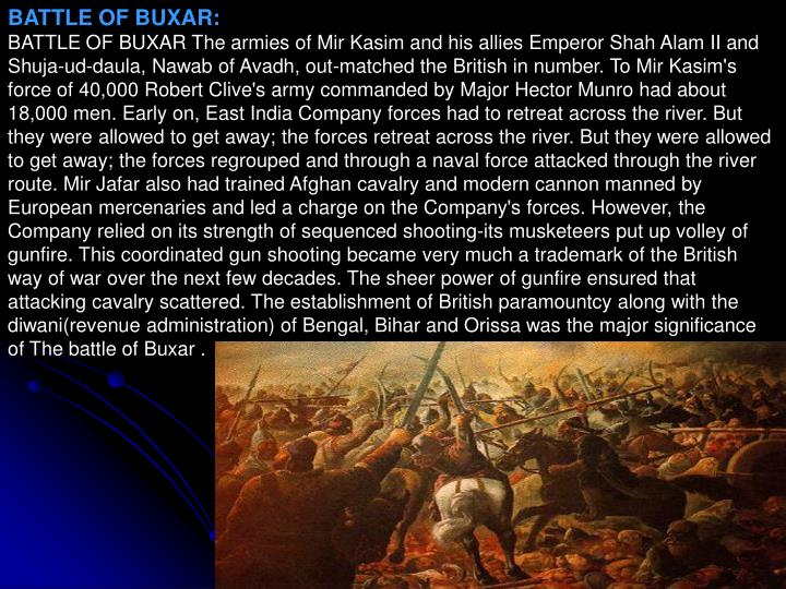 BATTLE OF BUXAR: