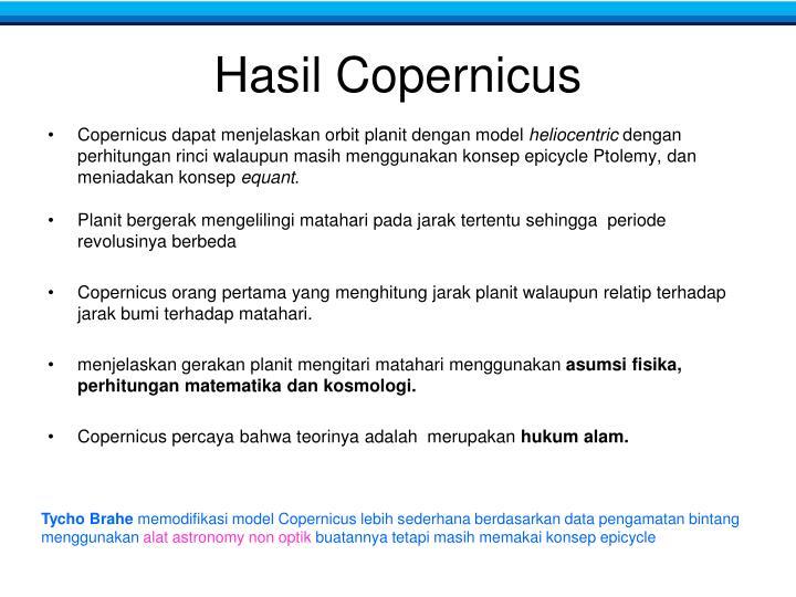 Hasil Copernicus