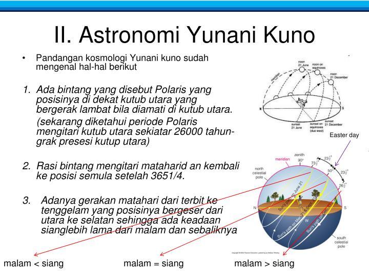 II. Astronomi Yunani Kuno