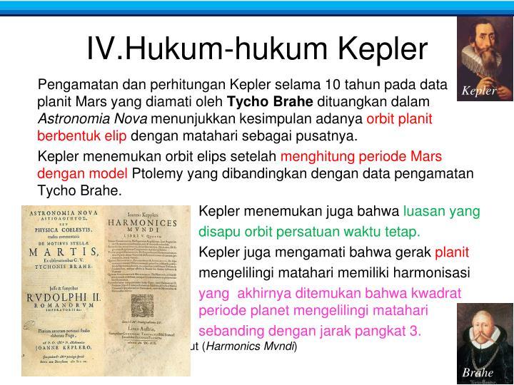 IV.Hukum-hukum Kepler