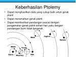 keberhasilan ptolemy