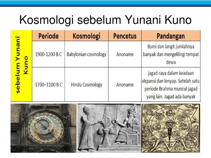 Kosmologi sebelum Yunani Kuno