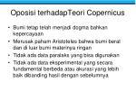 oposisi terhadapteori copernicus