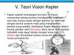 v teori vision kepler