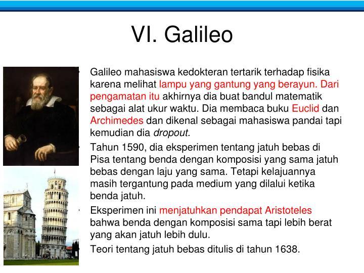 VI. Galileo