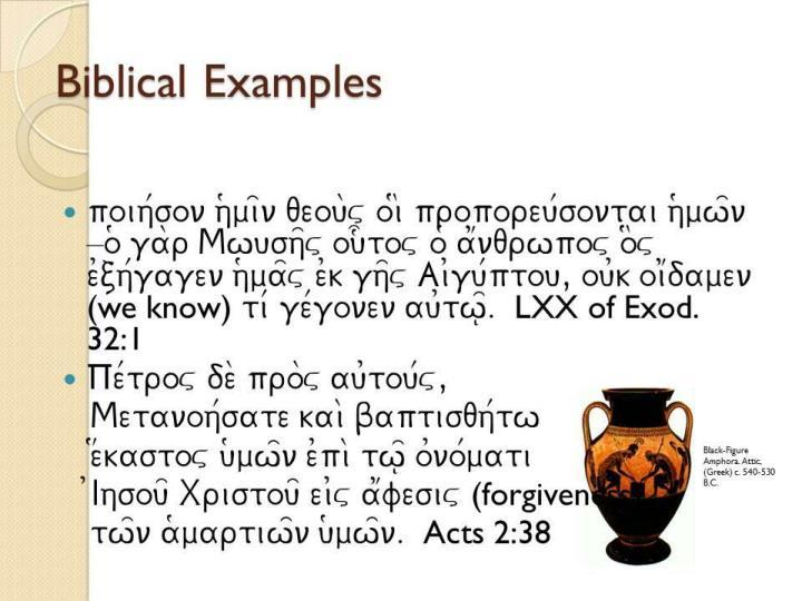 Biblical Examples