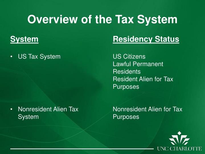 Overview of the Tax System
